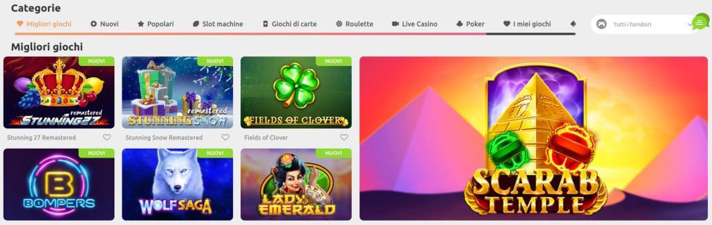 Slot e altri giochi del casinò