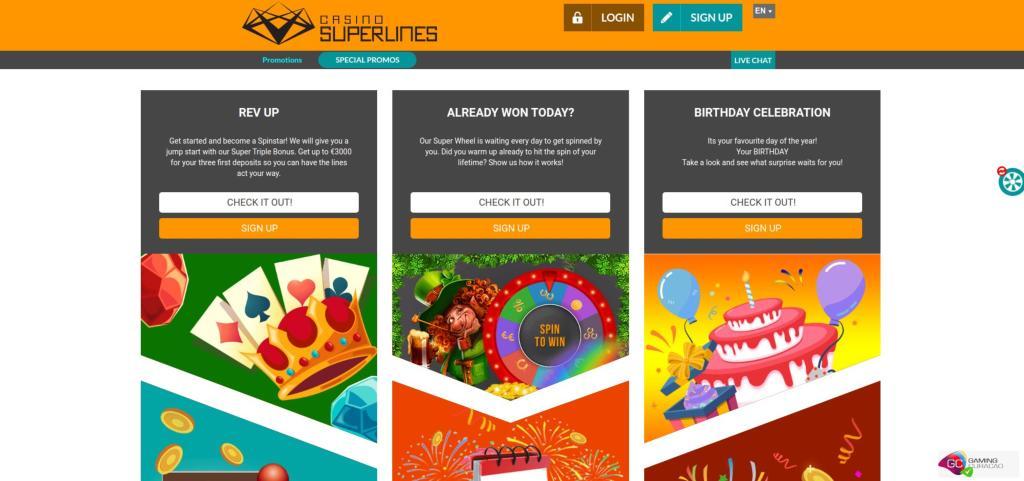 Casino Superlines promo