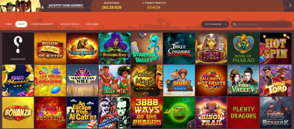 Slot machine e altri giochi