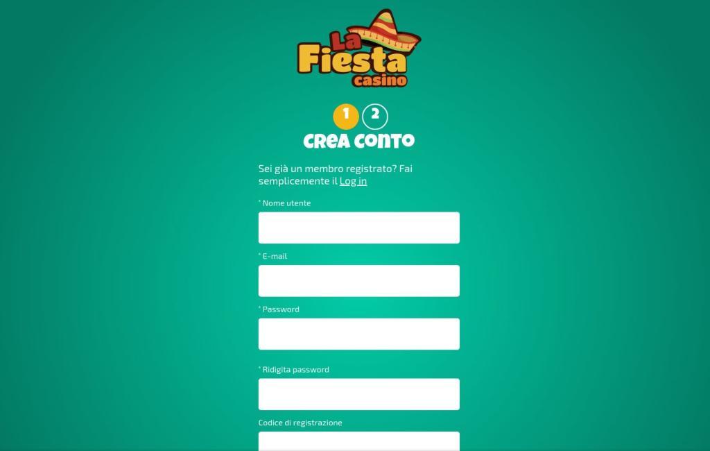 Guida alla registrazione sul La Fiesta Casino