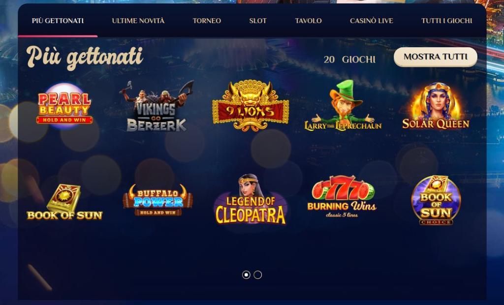 Slot e giochi casinò Vegas Plus